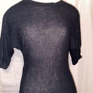 Sheer Black Knit Blouse